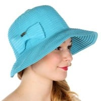 Packable Bow Sun Hat for Women