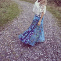 Long skirt hippie style