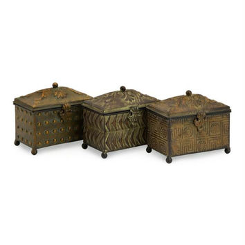 3 Keepsake Boxes - Botanical