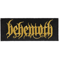 Behemoth Men's Gold Logo Woven Patch Black