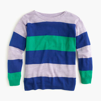 crewcuts Girls Multistripe Merino Wool Popover Sweater
