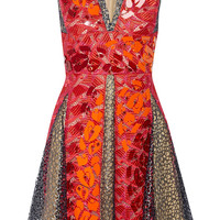 Peter Pilotto - Phoenicia embellished guipure lace mini dress