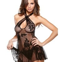 Floral Lace Dress with Matching G-string