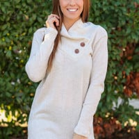 Button Detail Sweater - Oatmeal