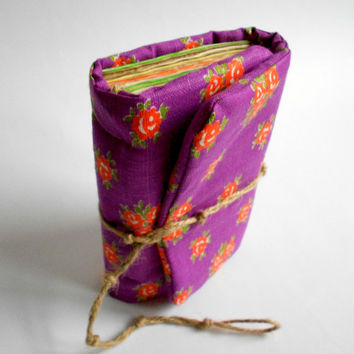 Purple Journal, Handmade Diary, Travel Book, Old Paper, Pregnancy journal, Notebook,