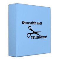 Scissors - Run With Me! 3 Ring Binder