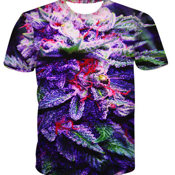 21 different styles!Harajuku Weeds hemp leaf 3D printing 2016 fashion Short sleeve T-shirt round collar Women Men t shirt