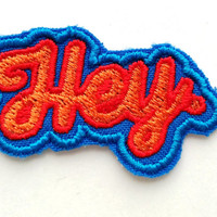 Patch #9. Hey Patch. Tumblr patches, Patches, Appliques, Embroidered Iron On Patch, Iron on Applique, Sewing Appliques