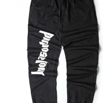 Purpose Tour Bieber Pants High Street Leggings Big Yards Ro Thread Men And Women Fear Of God Boots Hip Hop Joggers Men's Trouser