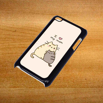Pusheen The Cat I Love My Mom For iPod Touch 4 Case *76*