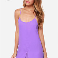 LULUS Exclusive Destined for Greatness Purple Dress