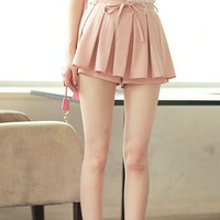 Women Polyester Casual Pleated White Short Pant Dress S/M/L@MF9864w - $15.39 : DressLoves.com.