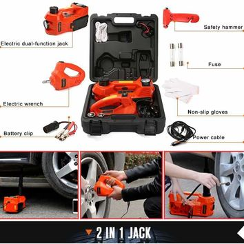 Electric Car Jack and Lug Wrench