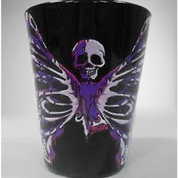 Butterfly Skull Shot Glass - Spencer's