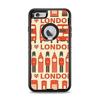 The Vector Tan and Red London Apple iPhone 6 Plus Otterbox Defender Case Skin Set