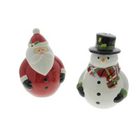 Sue Zulauf Christmas Cut Outs  Holiday Decor Salt & Pepper Shakers