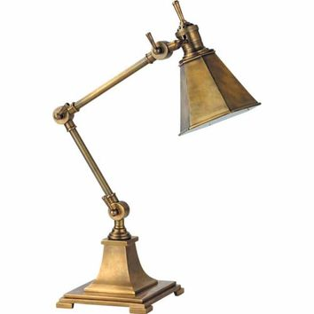 Visual Comfort and Company SL3032HAB Hand-Rubbed Antique Brass Mini Architects Table Lamp