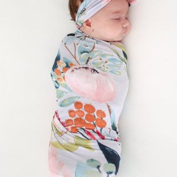 Forrest Queen Swaddle & Headband Set by Posh Peanut