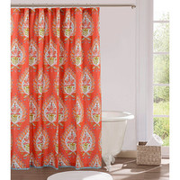 Kalani 72-Inch x 72-Inch Fabric Shower Curtain in Red