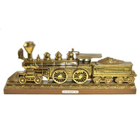 Gold Train Wall Hanging by Burwood, 1978 - Detailed Steam Locomotive, The Philadelphia 1871, Coal Car - Vintage Home Decor