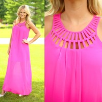 Hot Pink Perfection Maxi Dress by Ya Los Angeles