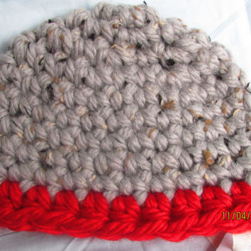 Baby Boy Beanie - Chunky Warm Baby Hat - Ohio State Buckeyes - Winter Hat