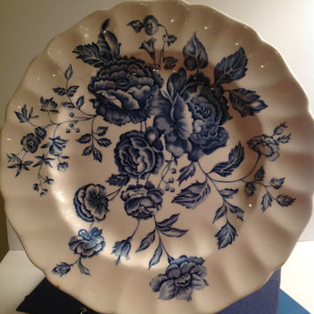 Blue and White Flowers Plate - Elizabeth Pattern made by Johnson Bros – English China