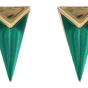Alexis Bittar Faceted Pyramid Post Earrings