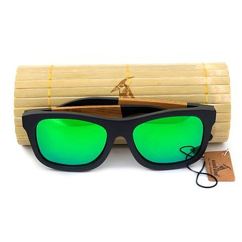 BOBO BIRD Brand Black Bamboo sunglasses Men Polarized Mirror Sun Glasses Retro for Men and Women Causal as Gifts 2017 Oculos