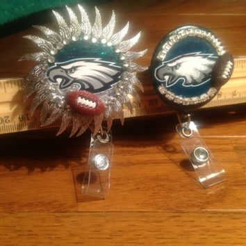 Philadelphia Eagles Id Badge Holder Reel EvezBeadz Created Custom List