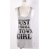 Small Town Girl Tank - Grey