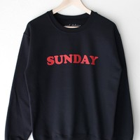 Sunday Oversized Sweatshirt - Black