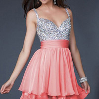 [grhmf26000105]Sweetheart Chiffon Prom Beadings Dress