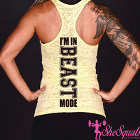 Beast Tank Top. #BEAST Tank. Womens Burnout Tank Top. Cross Training Tank Top Shirt. Womens Workout Tank Top. #Beast Shirt. #beastmode tank