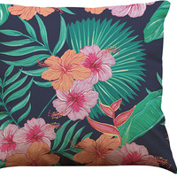 Decorative African TropicalPlants Printed Pillow Cover