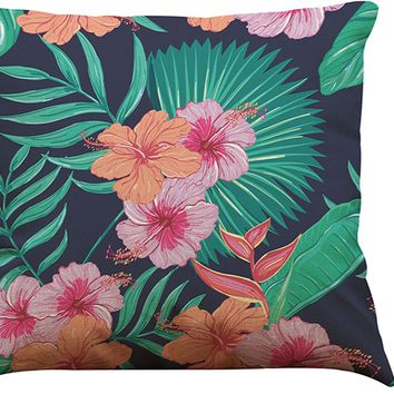 Decorative African Tropical Plants Printed Pillow Cover