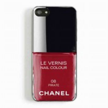 Pirate Red Nail Polish chanel Color for iphone 5 and 5c case