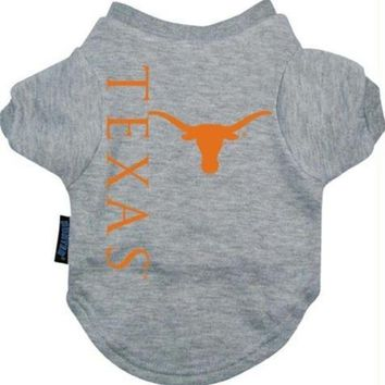 DCCKT9W Texas Longhorns Dog Tee Shirt