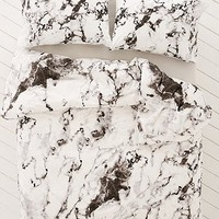 Marble Print Duvet Set - Urban Outfitters