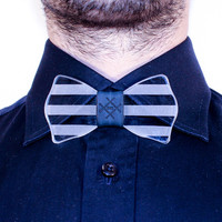 GLASS BOW TIE - Fred / Blue