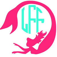 Mermaid Monogram Decal Add Personality to Christmas Gifts, Great personal Gift, Gift Wrap Option, Personalize So Many Things