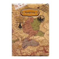 World Map 3D Passport Cover