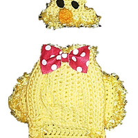 Easter chick costume for your dog / hat & coat clothing - for small breed dogs chihuahua / yorkie
