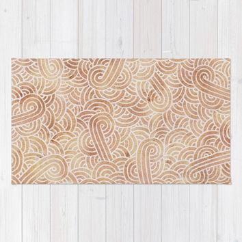 Iced coffee and white zentangles Rug by Savousepate