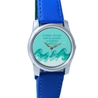 A Smooth Sea Never Mad A Skillful Sailor | Motivational Wrist Watch