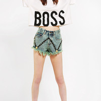 Bitching & Junkfood X UO Boss Cropped Tee