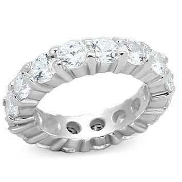 The Monaco, A Perfect 8TCW Round Cut Russian Lab Diamond Eternity Ring
