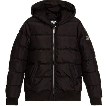 Karl Lagerfeld Boys Black Puffer Jacket