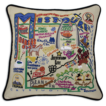 Missouri Hand Embroidered Pillow