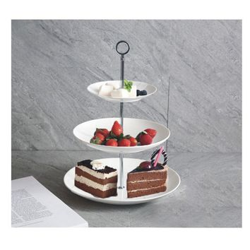 Artliving 3-tier Porcelain China Cake Stand-Dessert Stand-Cupcake Stand-Tea Party Serving Platter